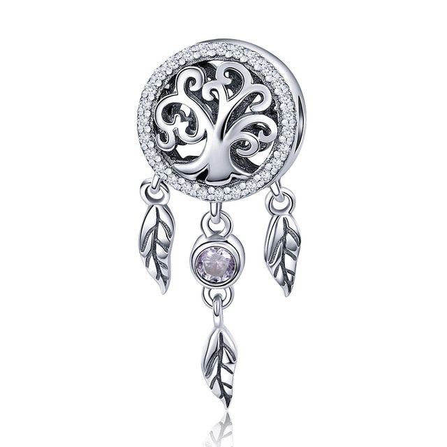 Family Heart Charm High heels Mirror Makeup Pendant Charm Dreamcatcher Beads For Jewelry Making Copper Zircon