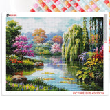 Huacan Full Square&Round Diamond Painting Landscape Spring 5D Diamond Embroidery Mosaic Cross Stitch Winter Home Decor Gift