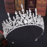 New Vintage Baroque Headbands Crystal Tiaras Crowns Bride Noiva Headpieces Bridal Wedding Party Hair Jewelry for Women