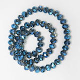 1 strand colorful transparent shiny AB crystal rondelle glass faceted beads for jewelry making jewelry diy accessorice