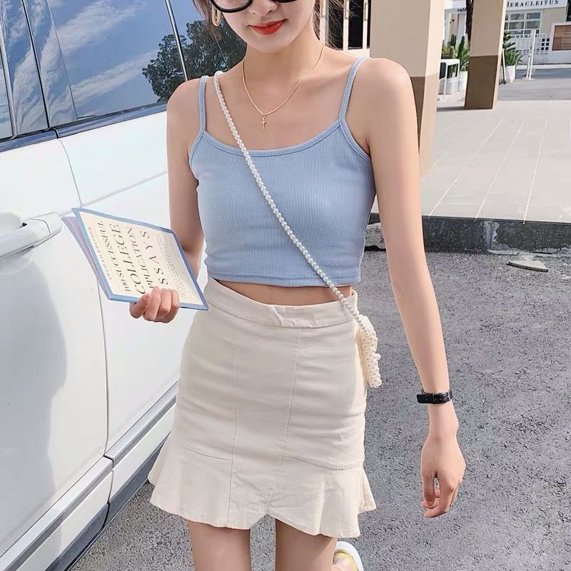 Crop Top New Fashion Women Sexy Solid Summer Camis Female Casual Tank Tops Vest Sleeveless Cool Streetwear Club High Street