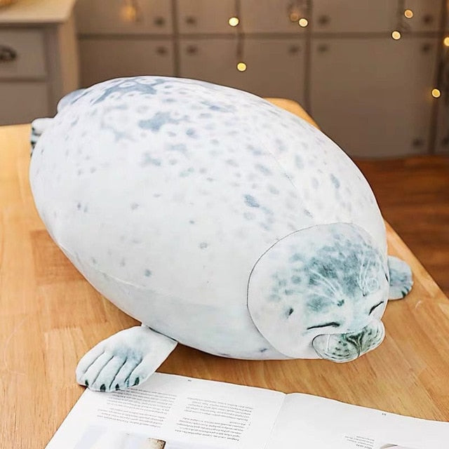 20cm 60cm Cute Sea Lion Plush Toys Soft Marine Animal Seal Stuffed Doll for Kids Gift Sleeping Pillow 3D Novelty Throw Pillows