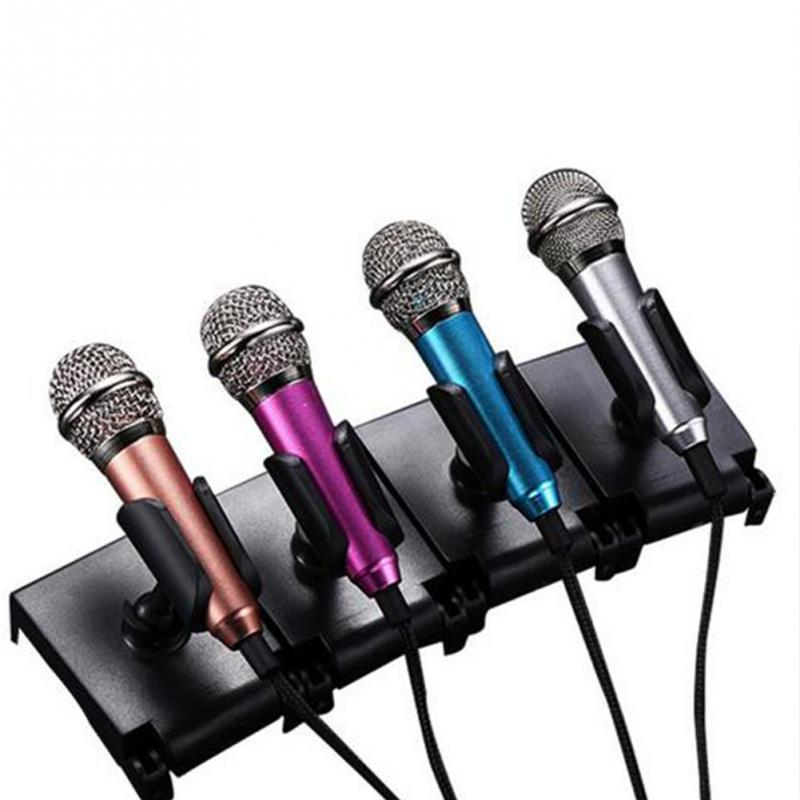 Portable 3.5mm Stereo Studio Mic KTV Karaoke Mini Microphone For Cell Phone  Laptop PC Desktop 5.5cm*1.8cm Small Size Mic