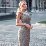 Plus Size Evening Dresses 2020 Ever Pretty EP08798CF Elegant Mermaid Lace Sleeveless Party Gowns Vintage Sexy  Robe De Soiree