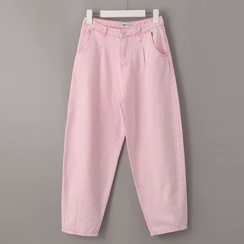 High Waist Pink Harem Pants Loose Trousers 2020 Summer Women Leisure Pants Korean style Streetwear