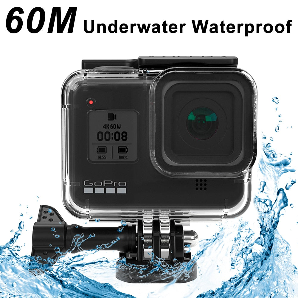 60M Waterproof Housing Case for GoPro Hero 8 Black Diving Protective Underwater Dive Cover for Go Pro 8 Accessories