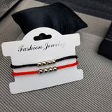 New DIY Charm Bracelet For Friendship Couples 2pcs/set Volcanic stone bracelet Bead Bangles Women Man Lucky Wish Jewelry