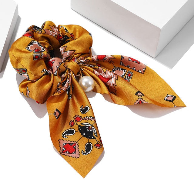 Women Hair Accessories for Baby Fashion Headband Fabric Cross Knotted Bow Chiffon Floral Hair Band Korea Headdress ladies Hoop