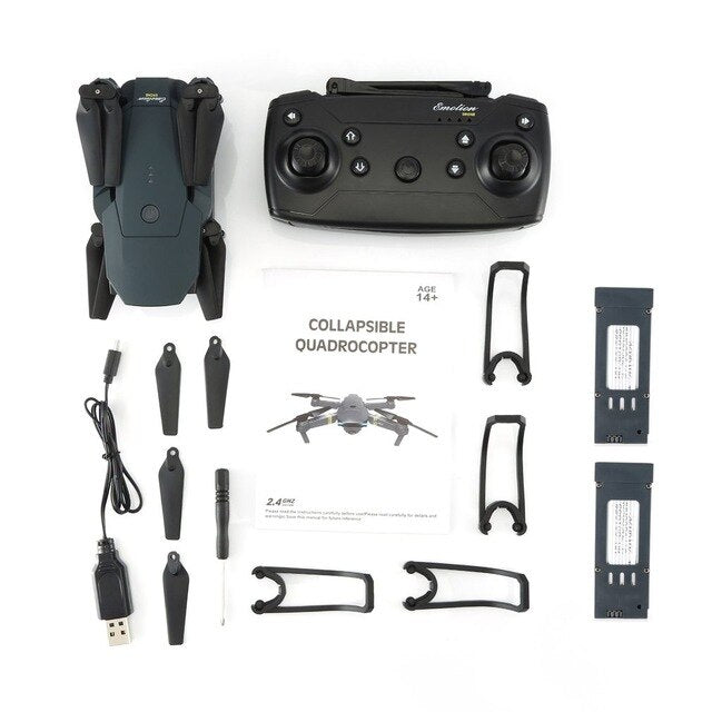 LX808 2.4Ghz WIFI FPV Foldable RC Drone With Wide Angle HD Camera Altitude Hold Headless Mode RC Model Aircraft RTF