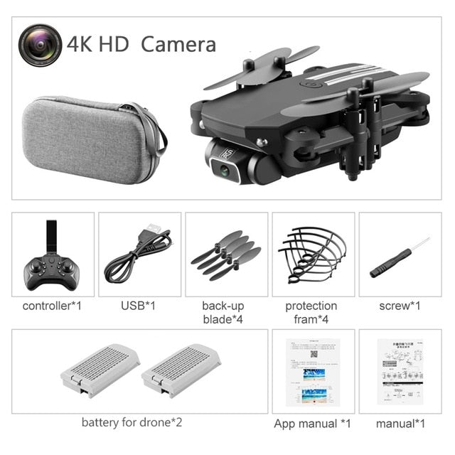 Drone 4k HD Wide Angle Camera 0.3MP/5.0MP/4K HD Cameras Mini Drone LS-MIN Dron Camera Quadcopter Height Keep Drones Toys   Gifts