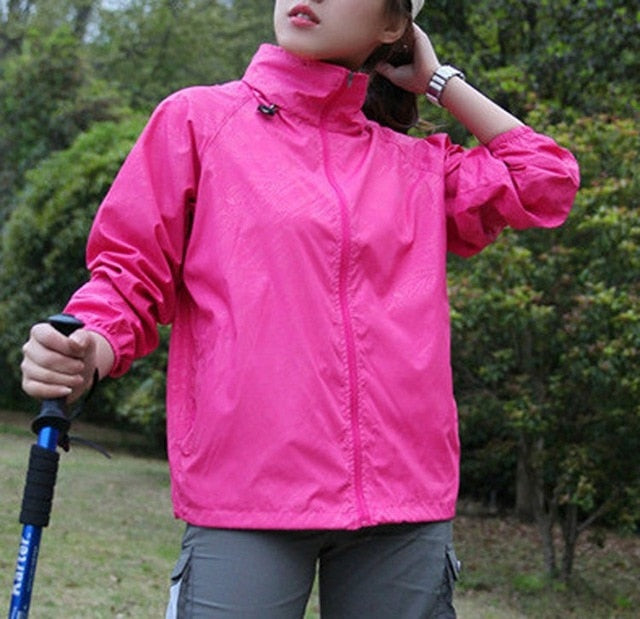 Men Women Quick Dry Hiking Jackets 2020 New Waterproof Sun-Protective Outdoor Sports Coats Skin Male Female Windbreaker RW188