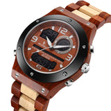 Senor Digital Watch Wood Watch Men Military Sport Wristwatch Mens Quartz Watches Top Brand Luxury Wooden Watch Male Relogio