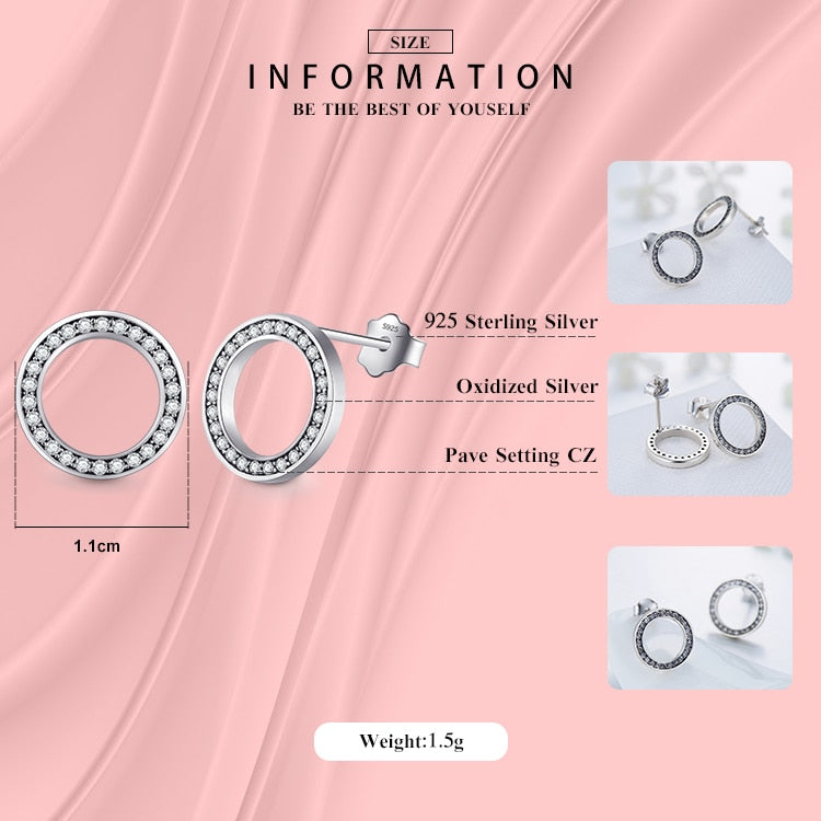 2020 High Quality Fashion 925 Sterling Silver Earrings Luxury Crystal Zircon Stud Earrings For Women Bridal wedding Jewelry