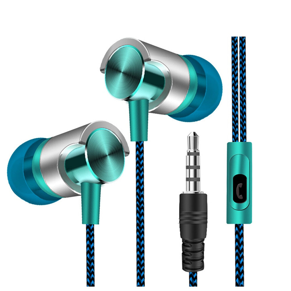 Universal 3.5mm In-Ear Stereo Earbuds Earphone With Mic for iPhone xiaomi huawei Mobile Phone MP3 MP4