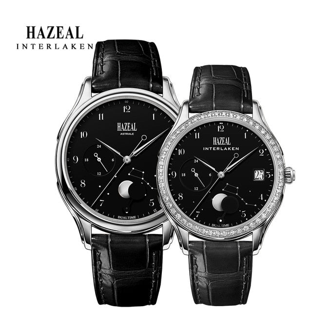 HAZEAL Couple Watch For Lover Original Design женские часы Men Quartz Watch Switzerland Luxury Womens Wristwatch Sapphire