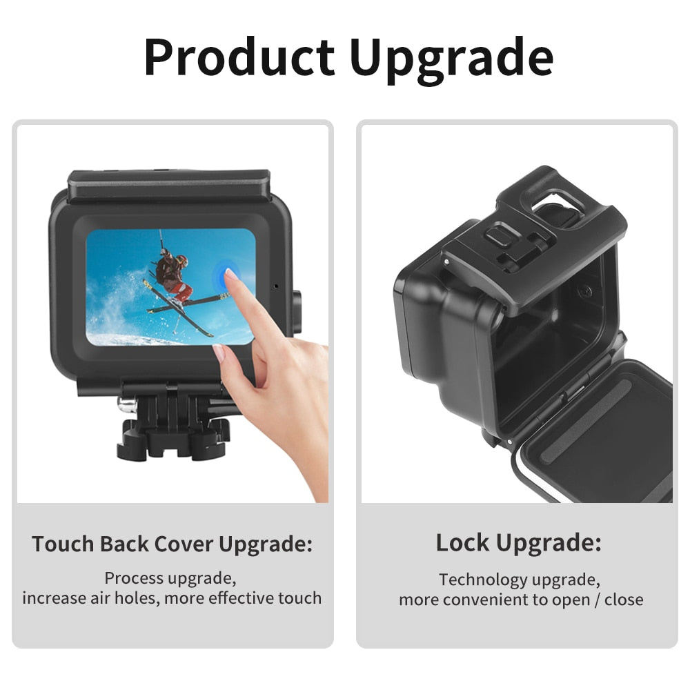 SHOOT 45m Underwater Waterproof Case for GoPro Hero 7 6 5 Black Diving Protective Cover Housing Mount for Go Pro 7 6 5 Accessory