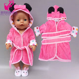 "Doll clothes for 43cm born baby doll jacket clothes pants set for 17"" 43cm baby new born doll down coat children doll toys wear"