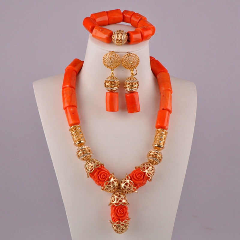 new fashion white coral jewelry set nigeria wedding coral beads african jewerly sets for women