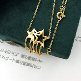 925 Sterling Silver NecklaceStar Tassel Shooting Star Gemstone Pendant 14K Gold Plated Fine Jewelry For Women LMNI098
