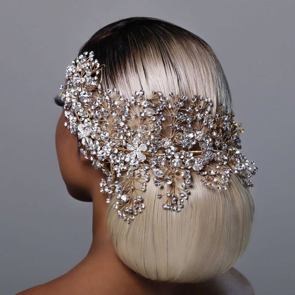 HP240 Luxury crystal bridal hair accessories wedding headpieces rhinestone wedding tiara headbands women crowns Pageant