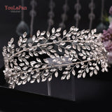 HP304 Bridal Crowns and Tiaras Forehead Bridal Headpieces Rhinestone Bridal Tiara Crown Bridal Headband Headpieces