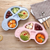 Toddler Infant Baby Dishes Environmentally Separated Child Food Plates Kids Dinnerware Tableware Tray Cartoon Car Shape plate