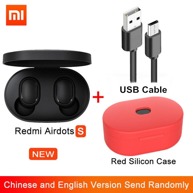 Redmi Xiaomi Airdots  S TWS Bluetooth Earphones Wireless Bluetooth Earphone AI Control Gaming Headset With Mic Noise reduction