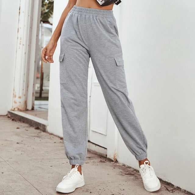 Sweatpants Women Baggy Pants Women Gray Spring Wide Leg Sweat Pants Oversized Joggers Streetwear High Waisted Trousers Women