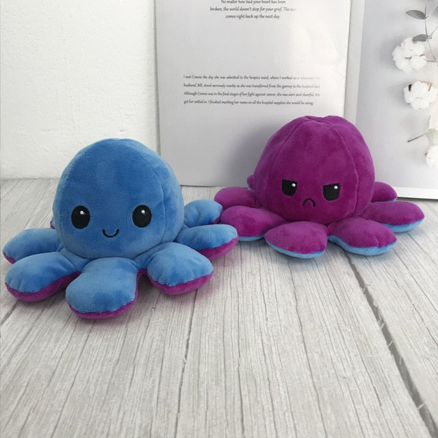 Reversible Flip octopus Plush Stuffed Toy Soft Animal Home Accessories Cute Animal Doll Children Gifts Baby Companion Plush Toy