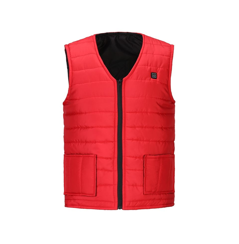 Men Autumn winter Smart heating Cotton Vest USB Infrared Electric Heating Vest Women Outdoor Flexible Thermal Winter Warm Jacket