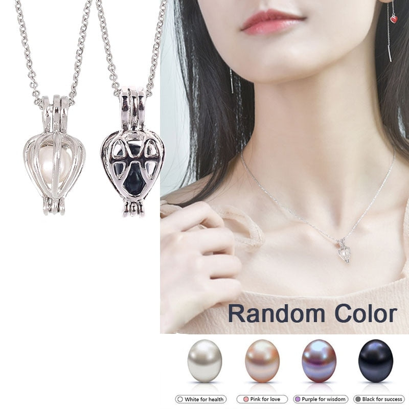 5 Pearls Natural Wish Pearl Pendant Necklace Charm Necklace Gift Box Popular Fashion Women Jewelry Lucky Gift Pearl Replace