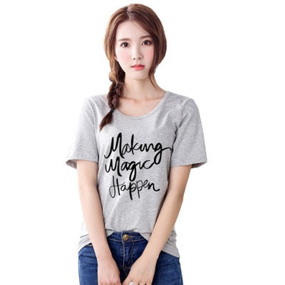 T shirt women tshirt 2020 new vintage vogue letter print harajuku summer style T-shirt cheap clothe female dropshipping T012