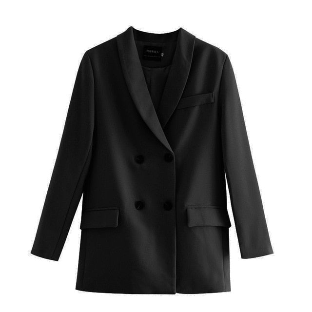 womens blazer two piece suit set double breasted jacket blazer 2020 autumn ladies formal suit