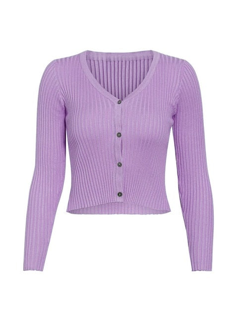 Sexy buttons knitted sweater cardigan women Slim ribbed winter autumn sweaters female Fashion plus size knitwear 2020