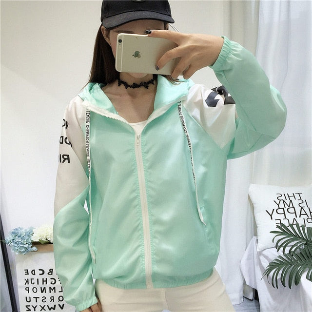 Jackets Women Clown Print New Women's Basic Jacket Fashion Thin Girl Chic Windbreaker Outwear Bomber Female Baseball Women Coat