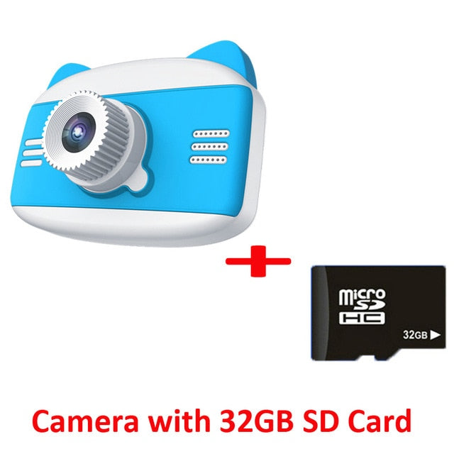 Children Digital Camera 3.5 inch 1080P 12MP Camera for Kids Photo Video Cartoon Cute Children Camera With Game Kids Best Gift