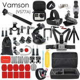 Vamson for Gopro Accessories Set for go pro hero 9 8 7 6 5 4 kit 3 way selfie stick for Eken h8r / for yi EVA case VS77
