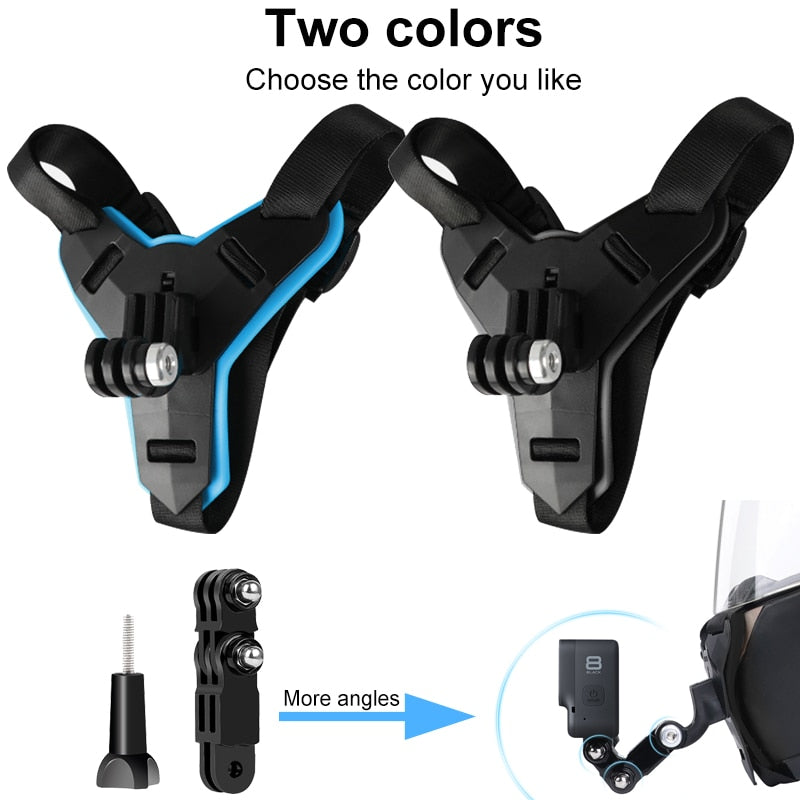 Motorcycle Helmet Chin Stand Mount Holder for GoPro Hero 9 8 7 6 5 4 3 Xiaomi Yi Action Sports Camera Full Face Holder Accessory