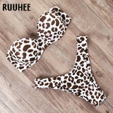 Swimwear Women Swimsuit 2020 Leopard Brazilian Bikini Set Push Up Bathing Suit Female Summer Beach Wear Biquini