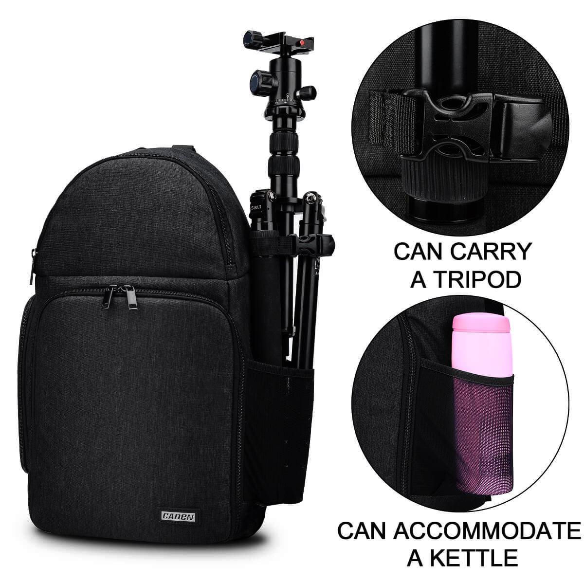 Camera bag Backpacks Shoulder Sling Bag Waterproof Nylon Shockproof Scratch Resistant DSLR Men Women for Canon Nikon Sony