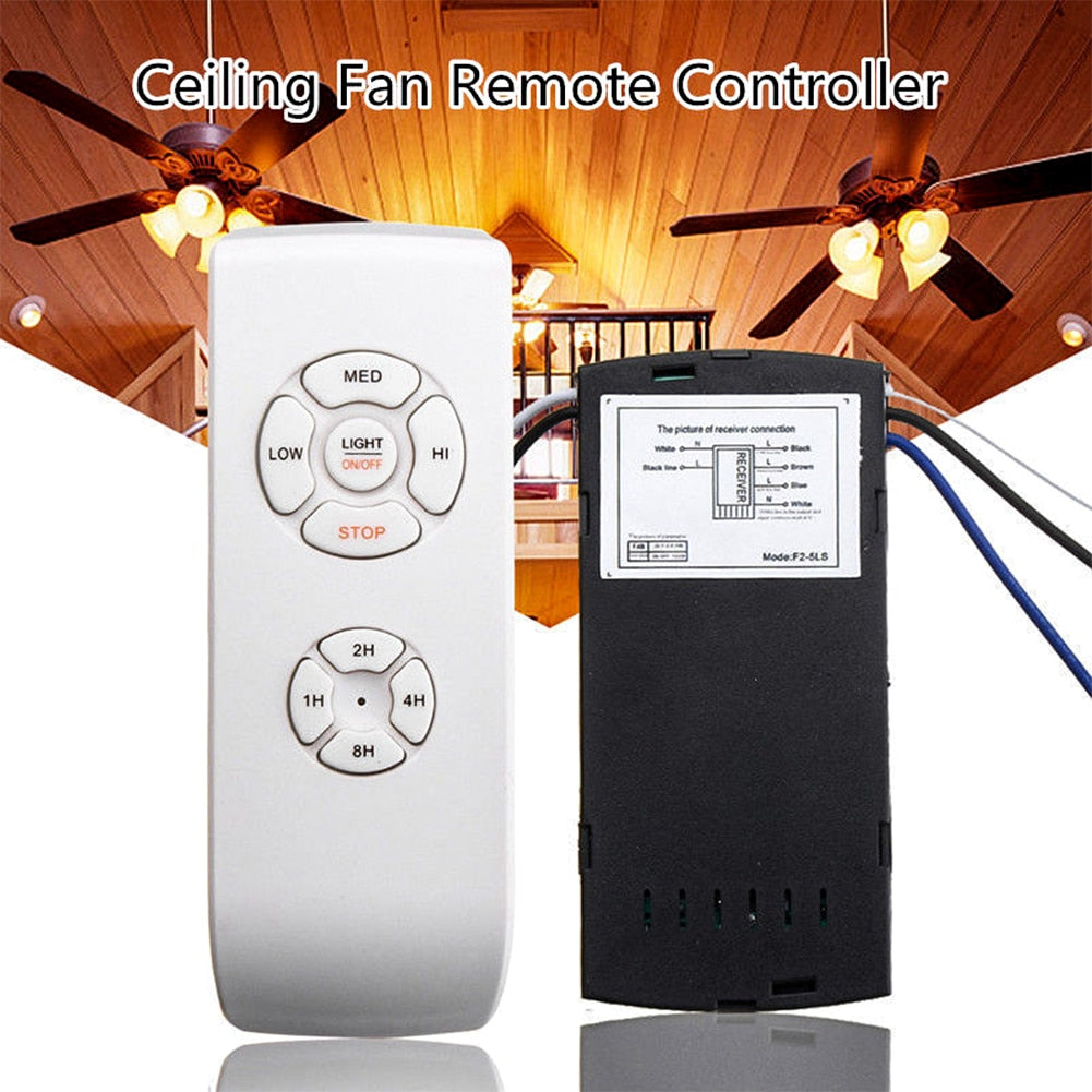 30M Universal Ceiling Fan Light Lamp Timing Wireless Remote Control Receiver 110V/220V Ceiling Fan Lamp Remote Control Kit