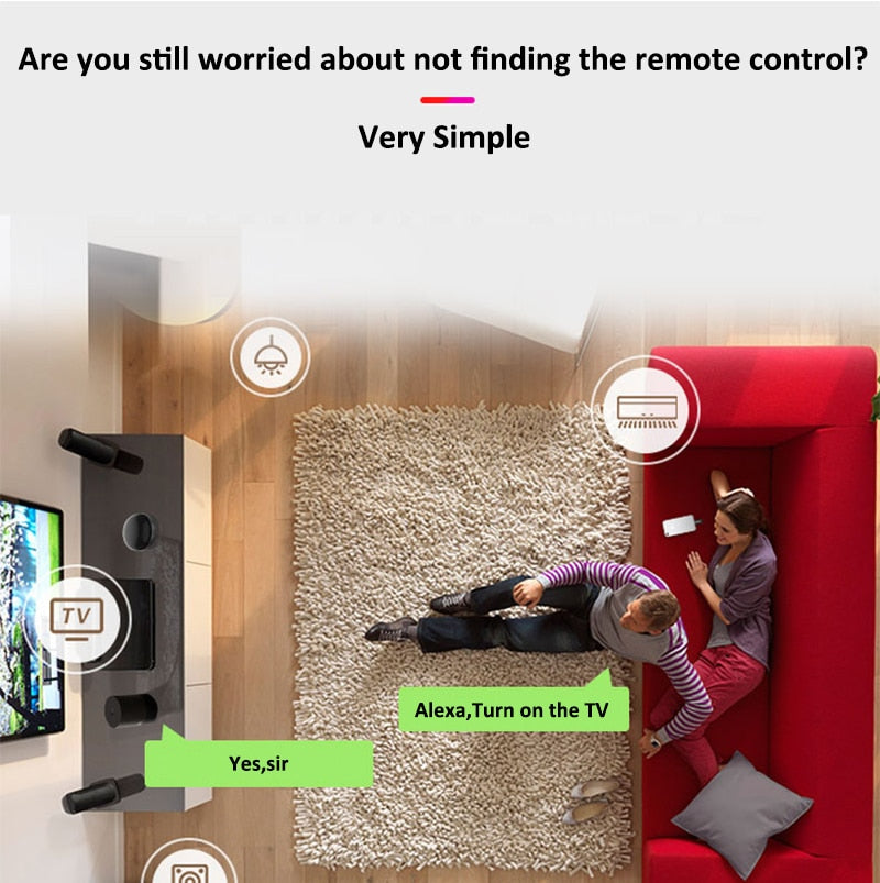 Smart Wifi IR Remote Controller Infrared Home Control Adapter Support Alexa Google Assistant Voice Smart Home Devices