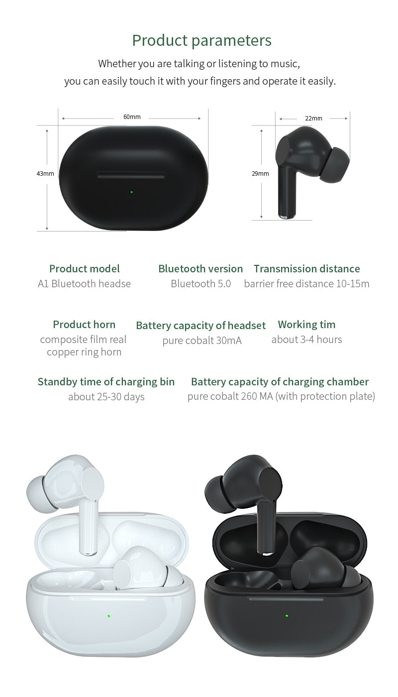 2020 NEWEST TWS Blutooth Wireless Headphones Mini Bass Earphone Headset Sports Earbuds With Charging Box Microphone