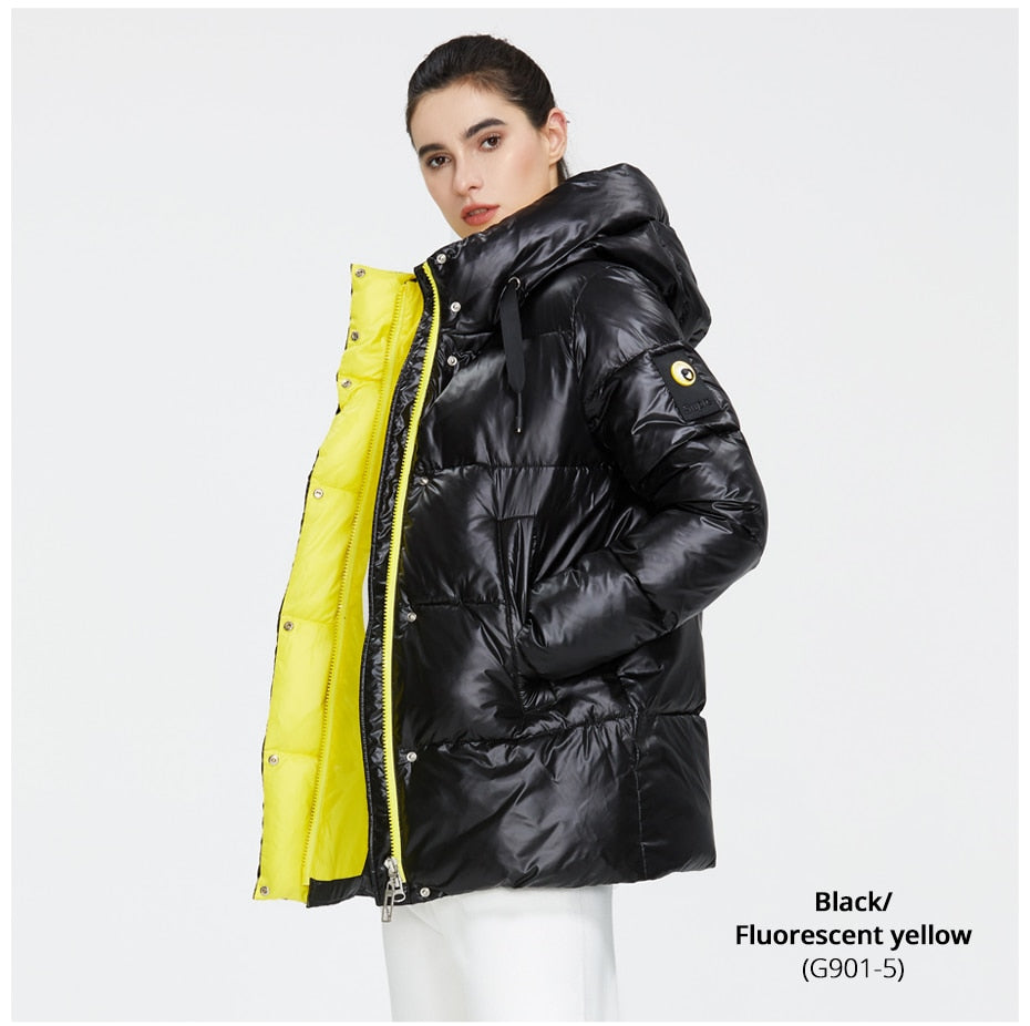 2020 New Winter Jacket High Quality Hooded Coat Women Fashion Jackets Winter Warm Woman Clothing Casual Parkas GWD19502I