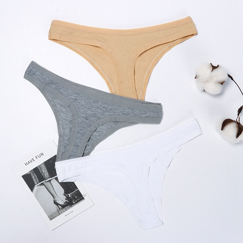 Ecmln Dropshipping Hot Sale Sexy Women Cotton G String Thongs Low Waist Sexy Panties Ladies' Seamless Underwear Lingerie 1/2 pcs