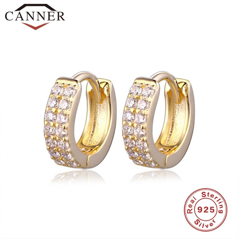 925 Sterling Silver Personality Creative Snake Small Hoop Earrings for Women Gold Silver color Geometric Circle Earrings Jewelry