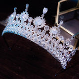 Luxury Tiaras And Crowns CZ Zirconia Princess Pageant Engagement Headband Wedding Hair Accessories Evening Dress Bridal Jewelry