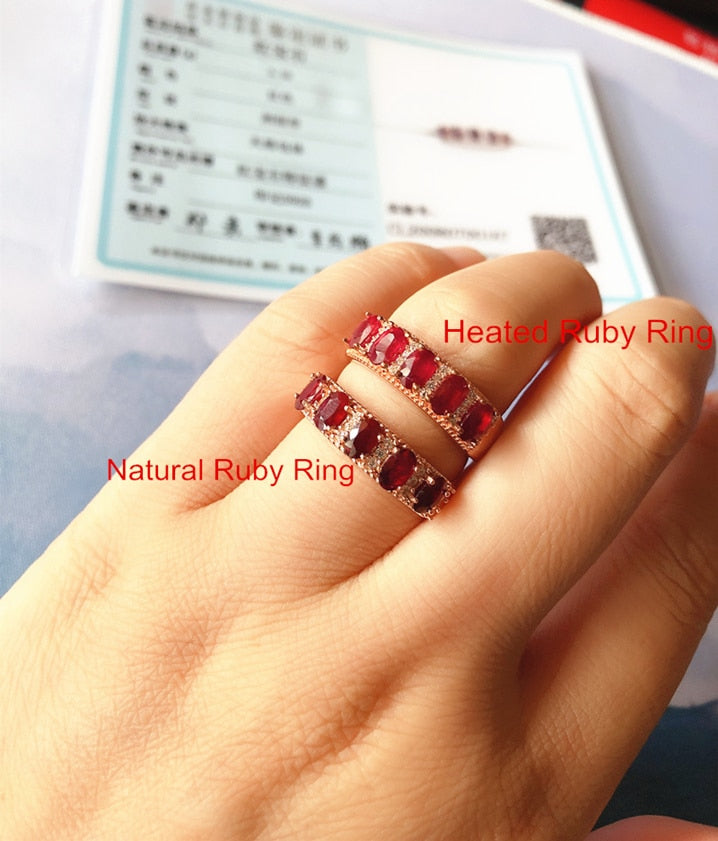Natural Pigeon Blood Ruby Ring for Women Party Engagement 3x5mm S925 Silver Fine jewelry Red Genuine Gemstone Certificate #411