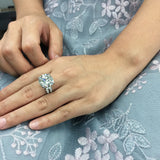 10k White Gold Or Silver 10ct 5carat Diameter GH Color Moissanite Wedding Engagement Ring For Women Solitare Ring Gold