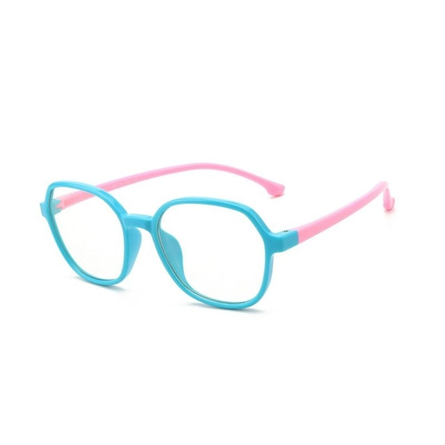 Fashionable Glasses Kids Blue Light Anti Glare Filter Children Eyeglasses Girl Boy Optical Frame Blocking Clear Lenses